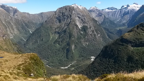 View from Mackinnon Pass on the Milford Track